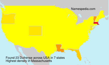 Surname Dufrense in USA