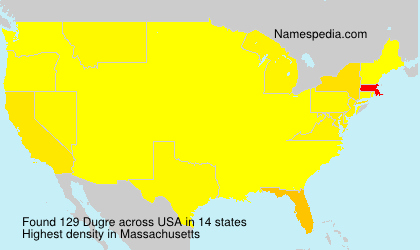 Surname Dugre in USA