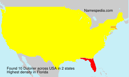 Surname Dulorier in USA