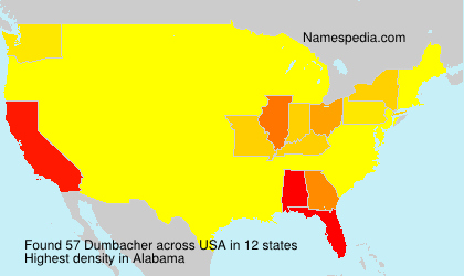 Surname Dumbacher in USA