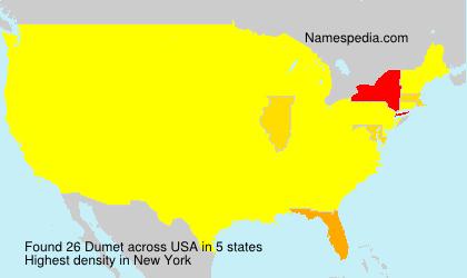 Surname Dumet in USA