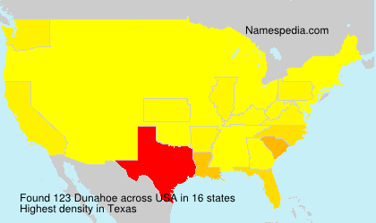Surname Dunahoe in USA