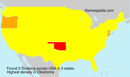 Surname Durbecq in USA