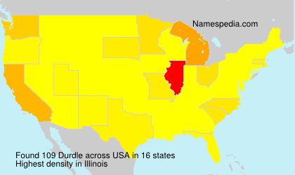 Surname Durdle in USA