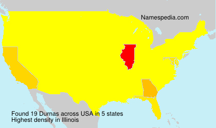 Surname Durnas in USA