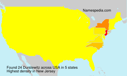 Surname Durstewitz in USA