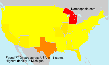 Surname Dysarz in USA