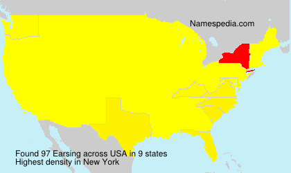 Surname Earsing in USA