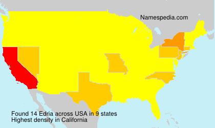 Familiennamen Edria - USA