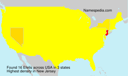 Surname Efelis in USA