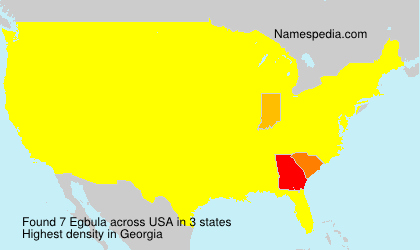 Surname Egbula in USA