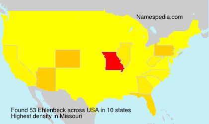 Surname Ehlenbeck in USA