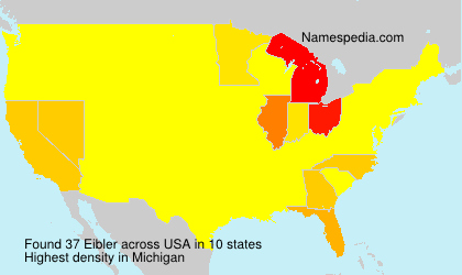 Surname Eibler in USA