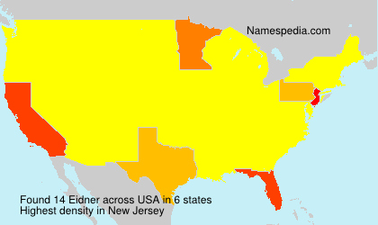 Surname Eidner in USA
