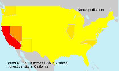 Surname Elauria in USA