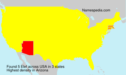 Surname Elef in USA
