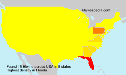 Surname Elwine in USA
