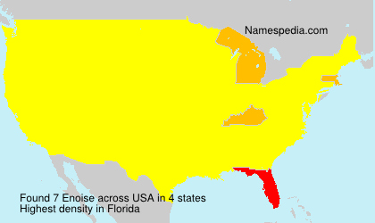 Surname Enoise in USA