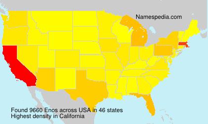 Familiennamen Enos - USA