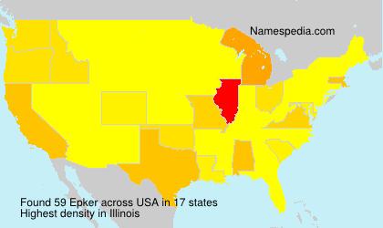 Familiennamen Epker - USA