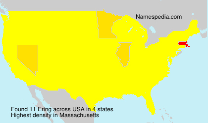 Surname Ering in USA