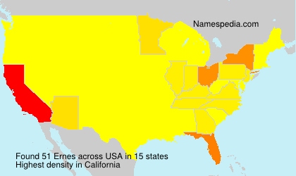 Surname Ernes in USA