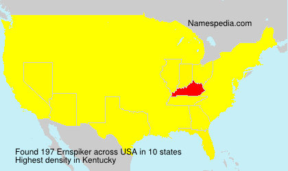 Surname Ernspiker in USA