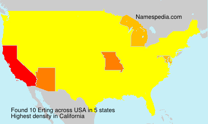 Surname Erting in USA