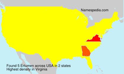 Surname Ertumen in USA