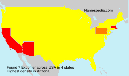 Surname Excoffier in USA