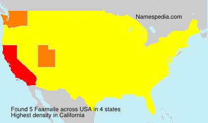 Familiennamen Faamaile - USA