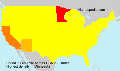 Surname Fabienke in USA