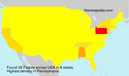 Surname Fadule in USA
