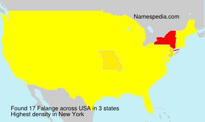 Familiennamen Falange - USA