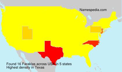 Surname Faraklas in USA