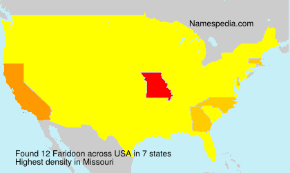 Surname Faridoon in USA