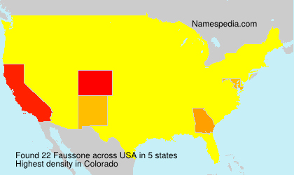 Surname Faussone in USA