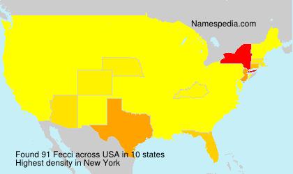 Surname Fecci in USA