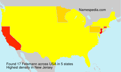Surname Felsmann in USA
