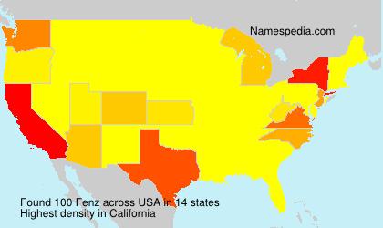 Familiennamen Fenz - USA