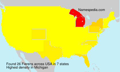 Surname Fierens in USA