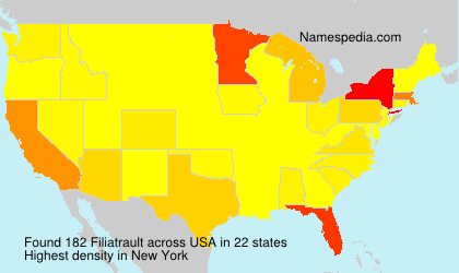 Surname Filiatrault in USA
