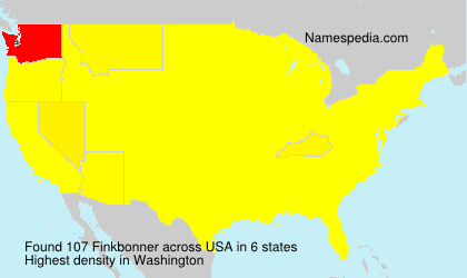 Surname Finkbonner in USA