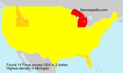 Surname Finup in USA