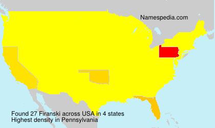 Surname Firanski in USA