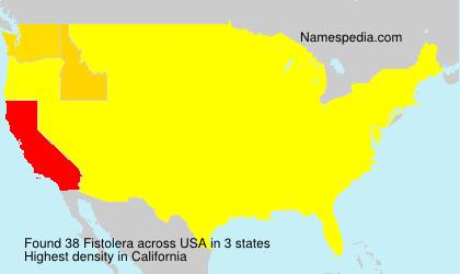 Surname Fistolera in USA