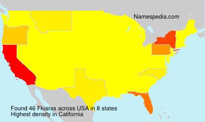 Surname Fkiaras in USA
