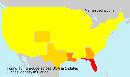 Surname Fonrouge in USA