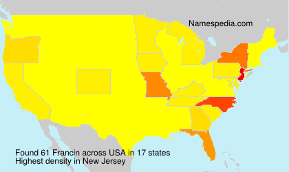 Surname Francin in USA