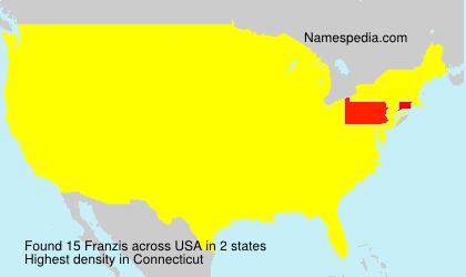 Familiennamen Franzis - USA
